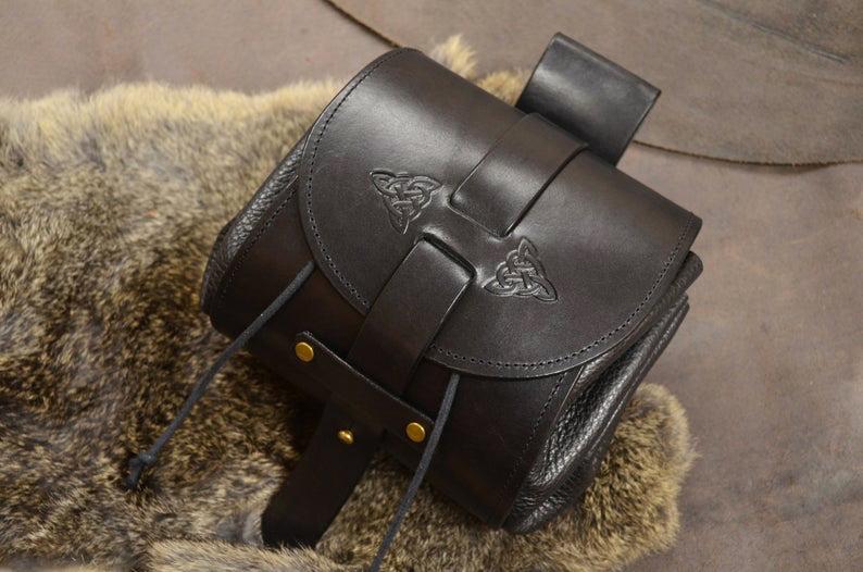 bolso de cadera cuero hecho a mano