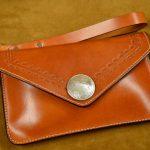 bolso de mano de cuero