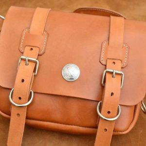bolso mensajero satchel cuero natural