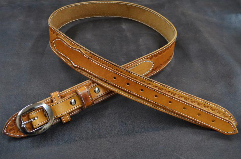 cinturón ranger cuero camel