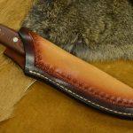 funda cuchillo cuero hecha a mano