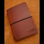 funda de cuero cuaderno de notas