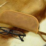 funda de cuero gafas