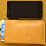 funda de cuero para smartphone