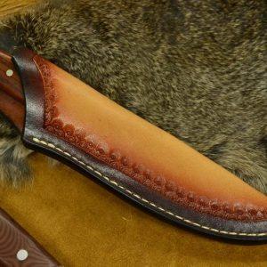 funda de cuchillo bushcraft cuero