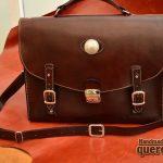 maletin de cuero hecho a mano marrón
