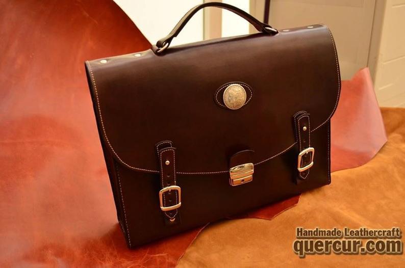 maletin de cuero artesanal