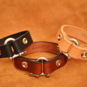 pulsera de cuero cierre náutico colores