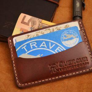 tarjetero billetera cuero hecho a mano