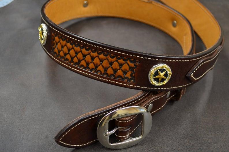 cinturón Ranger de cuero decorado