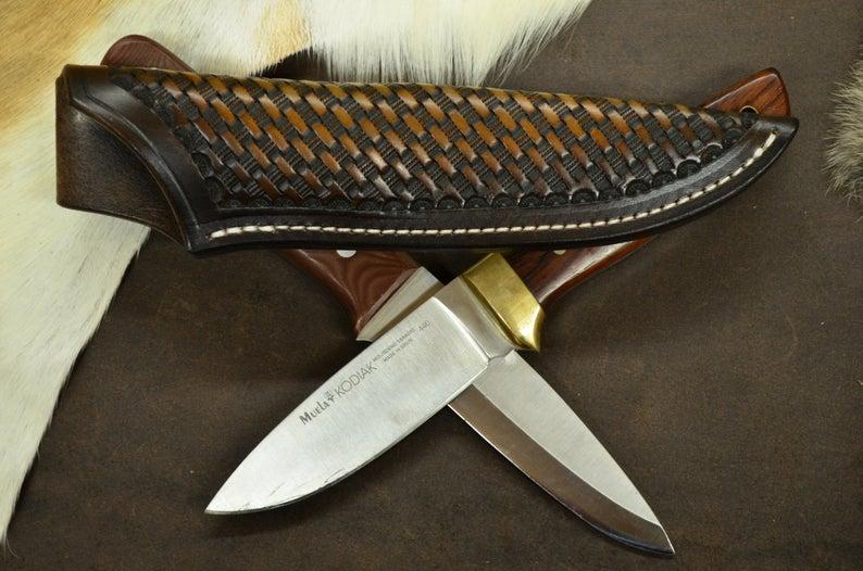 Funda de cuchillo cuero bushcraft