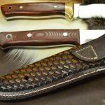 Funda de cuchillo cuero Bushcraft 1