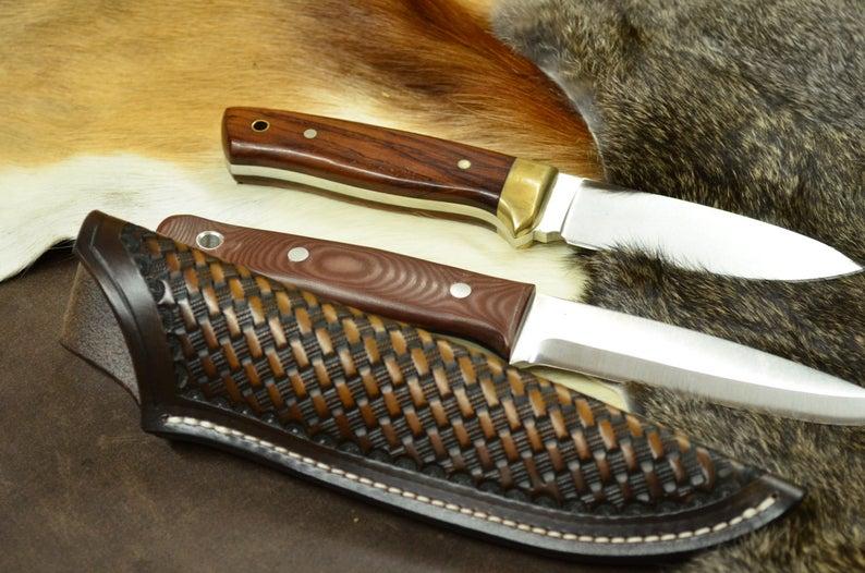Funda de cuchillo cuero para Bushcraft