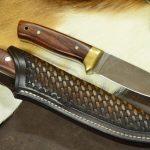 Funda de piel cuchillo Bushcraft