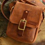 bolso cuero hombre marrón