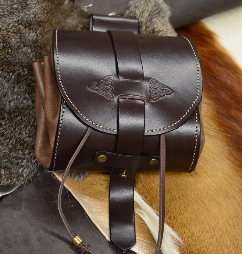 bolso de cadera cuero marrón tabaco