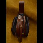 bolso judas de cuero artesanal negro