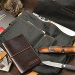 bolso loneta encerada cuero 1