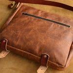 bolso mensajero de cuero marrón 1