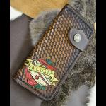 cartera de cuero repujado personalizado1