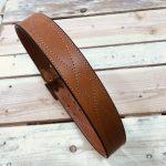 cinturón cosido español marrón claro