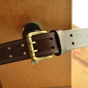 cinturón cosido español marron oscuro