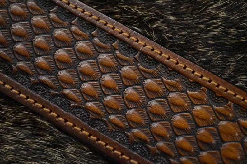 cinturón de cuero decorado talle