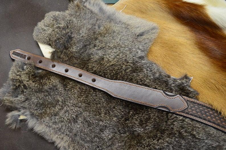 cinturón de cuero decorado revés suave