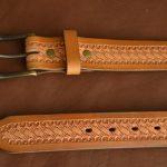 cinturón cuero patrón de cesta