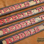 cinturón cuero personalizado serpiente rojo