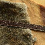 cinturón de cuero cosido español marron oscuro