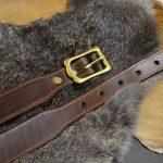 cinturón de cuero decorado hebilla maciza 1