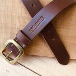 cinturón de cuero natural marrón