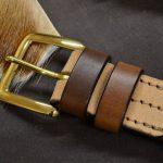cinturón de cuero natural vacuno hebilla maciza