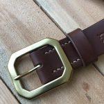 cinturón de piel natural marrón 1