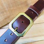 cinturón de piel natural marrón