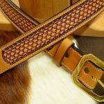 cinturón decorado hebilla de latón macizo