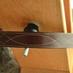 cinturón en cuero cosido español marron oscuro