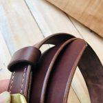 cinturón piel natural marrón