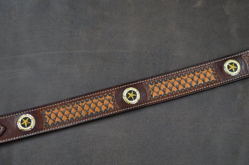 cinturón Ranger de cuero decorado adornos