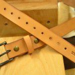 cinturon de cuero natural