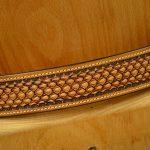 cinturon decorado con hebilla de latón macizo