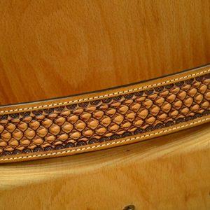 cinturón de cuero hebilla de latón macizo