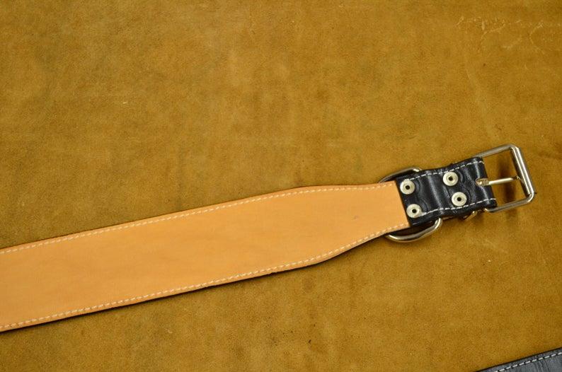 collar de perro cuero personalizable forro interior