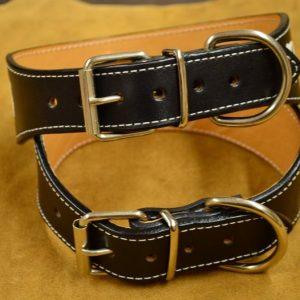 collar de perro cuero personalizable