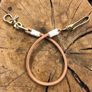 cordón de cuero cartera artesanal