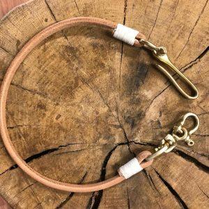 cordón de cuero cartera hecho a mano