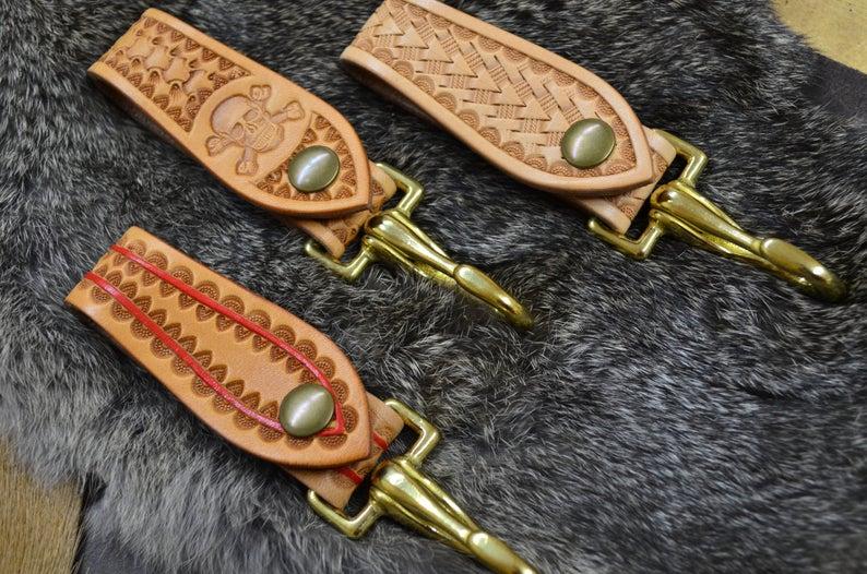 cuelgallaves de cuero hecho a mano diseños