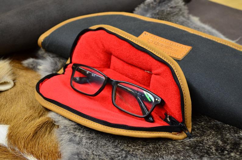 estuche acolchado loneta encerada gafas