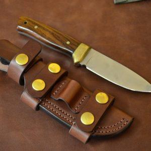 funda de cuchillo de cuero multiposición artesanal
